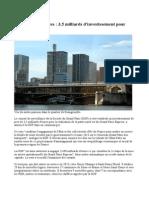 Grand Paris Express 3,5 Milliards d'Investissement 4 Juillet 2014