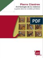 Archéologie de La Violence - Pierre Clastres