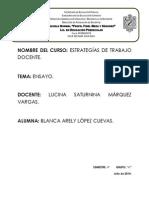 ENSAYO Evaluación de Las Secuencias Didácticas