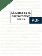 LA+LÍRICA+EN+EL+GRUPO+POÉTICO+DEL+27