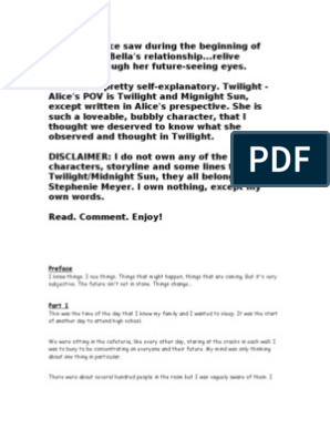 Twilight ~ Alice's POV ~ Chapters 1-29 | Twilight (Meyer Novel)