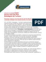 com0738, 170506 Inicia Eugenio Hernández Flores tercera fase del Plan Estratégico de Turismo.