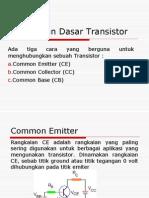 Rangkaian Dasar Transistor
