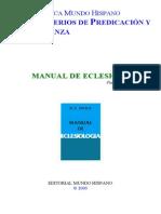 (2) Ministerios de Predicación y Enseñanza Manual de Eclesiología