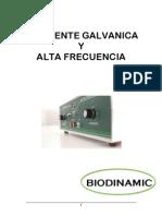 DUPLEX ALTA FRECUENCIA Y CORRIENTE GALVANICA BIODINAMIC