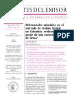 Diferencias Salariales en Colombia