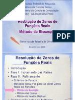 Zeros de Funcoes2 - Bisseccao