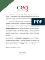 Vacancia Cargo Consejero Académico
