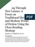 close reading unit literature review