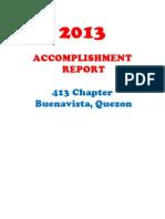 Accomplishment Report 2013