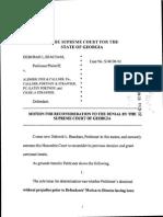 Beacham-Motion-for-Reconsideration-Supreme-Court-GA-Portnoy-Strawser-2014