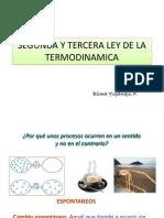 Segunda y Tercera Ley de La Termodinamica
