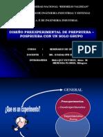 Diseño Preexperimental de Preprueba – Posprueba Con Un Solo Grupo