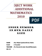 Sample Additional Mathematics Project Work