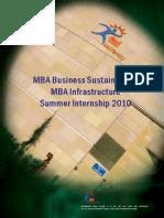MBA Summer Internship 2010 teri