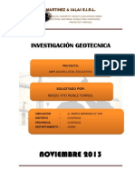Investigación Geotecnica Local Educativo