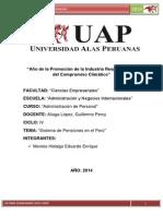 Sistema Pensionario en El Peru