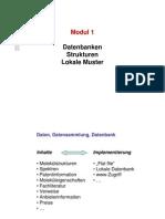 Modul 1 (Struktur Datenbanken)