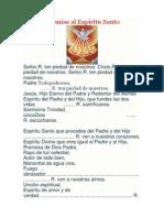 Letanías Al Espíritu Santo