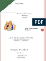Administracion Y Gestion de Inventario(Excedente de Inventario