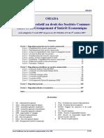 Acte Uniforme OHADA Societes Commerciales (1997)