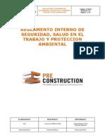 Reglamento Interno Preconstrcution