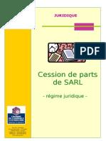Cession de Parts de SARL Régime Juridique