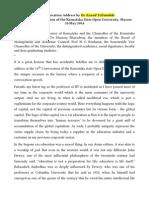 Convocation Address by Anand Teltumbde at Karnataka State Open University May-10 2014