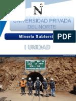 I Unidad - Mineria Subterranea