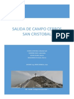Salida de Campo Al Cerro San Cristobal Lima