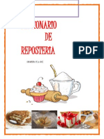 diccionario pasteleria