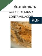 Minería Aurífera en Madre de Dios