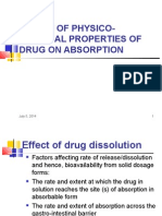 EFFECT OF PHYSICO-CHEMICAL PROPERTIES OF DRUG ON ABSORPTION.ppt