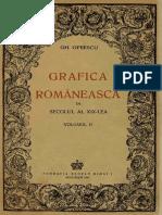 Gh. Oprecu, Grafica Romaneasca in Sec XIX, Vol. 2, 1942