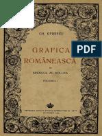 Gh. Oprecu, Grafica Romaneasca in Sec XIX, Vol. 1, 1942