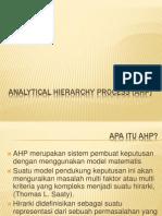 Dasar Analytical Hierarchy Process (Ahp)