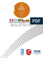 Boletin 02 - Copa Unique 2014