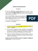 Acuerdo de Confidencialidad CEGRAMEL
