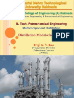 Distillation Models for Simulation