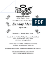 Sunday Lunch Menu 06072014