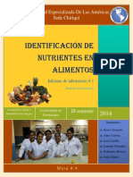 informe de lab 1 identificacion de nutrientes en los alimentos