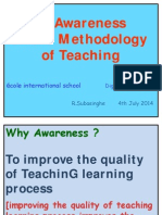 An Awareness in the Methodology of Teaching- R.Subasinghe