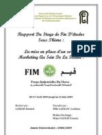 Rapport de Stage Fin d'Etudes de la Mise en Place d'un Service Marketing au Sein de la Societe FIM