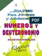 Desafios Para Jc3b3venes y Adolescentes Nc3bameros y Deuteronomio