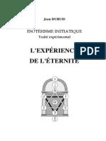 Dubuis Jean - L'Expérience de l'Éternité