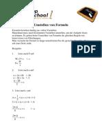 Auflösen Von Formeln Umstellen