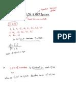 Lcm Gcf for Class Ix