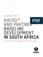 Australia Africa Community Engagement Scheme (AACES) and partner baseline development in South Africa
