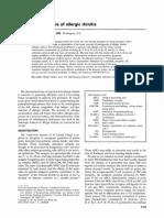Pathogenesis of Allergic Rhinitis
