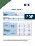Resistal b80z Alu Iso En